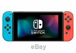 Nouveau Nintendo Super Commutateur Bundle + 2 Jeux D'+ Protecteur D'écran + Plus