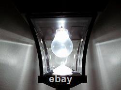 Outdoor Solar Power 77 H Lamp Post Vintage Street Light Avec 4 Led Super Bright
