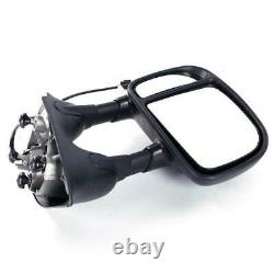 Paire Pour 1999-07 Ford F250 Super Duty Power Remorquage Telescoping Duty Side Mirrors