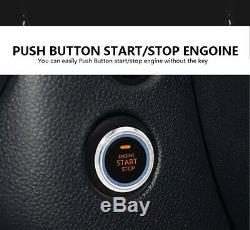 Pke Système D'alarme De Voiture Passive Sans Clé Bouton Poussoir À Distance Du Moteur Start / Stop