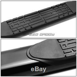 Pour 04-14 Ford F150 Ext / Super Cab 4oval Black Side Step Nerf Bar Running Board