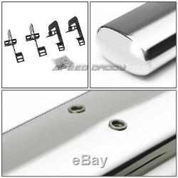 Pour 04-14 Ford F150 Ext / Super Cab 4oval Chrome Side Step Nerf Bar Running Board