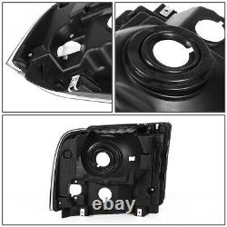 Pour 05-07 Ford F250 F350 Super Duty Black Housing Clear Corner Phares