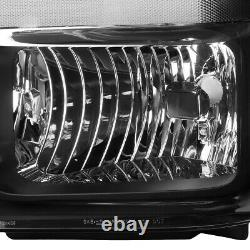 Pour 08-10 Ford F250 F350 Super Duty Black Housing Clear Corner Phares