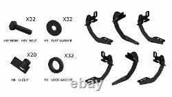 Pour 09-14 Ford F150 Super Crew Cab 6 Nerf Bar Running Board Étape Latérale Blk H