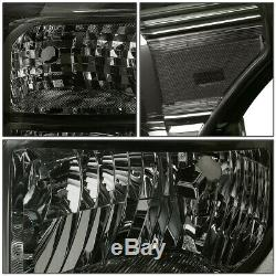 Pour 11-16 Ford F250 F350 Super Duty Fumé Logement Clair Coin Phares Lampes