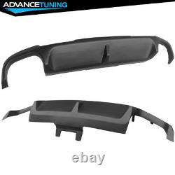Pour 13 14 Ford Mustang Shelby Gt500 Super Snake Rear Bumper Diffuseur Lip Pp