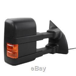 Pour 1999-2007 Ford F250 / F350 Rétroviseurs Latéraux De Remorquage Super Duty Power + Heated + Signal