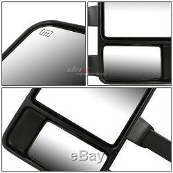 Pour 1999-2007 Ford F250 Super Duty Paire + Powered Chauffée + Led Signal De Remorquage Miroir