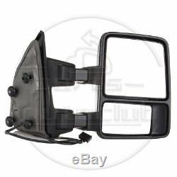 Pour 1999-2016 Ford F250 F350 Super Duty Black Side Manuel De Remorquage Miroirs Paire