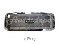 Pour 2005-07 Super Duty F250 F350 F450 F550 Grille Chrome Avec Billettes Type Insert