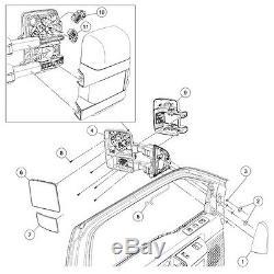Pour 2008-16 Ford F450 Super Duty Côté De Remorquage Miroirs Extérieurs Électriques Et Chauffants Signal De Fumée
