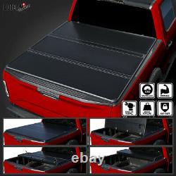 Pour 2015-2019 Ford F150 Super Crew Cab 5,5ft Lit Dur Tri-fold Cover Tonneau