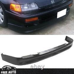 Pour 90-91 Honda Crx Si Ed9 Cs Style Avant Bumper Lip Spoiler Splitter Pu Noir