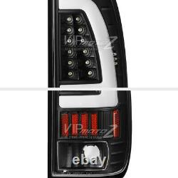 Pour 97-03 Ford F150 F250 Superdust Black Neon Tube Lumière De Frein Led Tail Lampe L+r