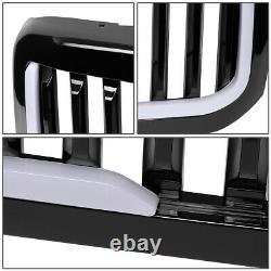 Pour 99-04 Ford F250 F350 Super Duty Badgeless Style Led Bar Avant Pare-chocs Grille