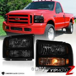 Pour 99-04 Ford F250 F350 Superduty Sinister Black Smoke Conversion Phare