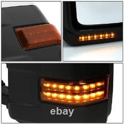 Pour 99-07 Ford F250 Super Duty Paire Power+heated+led Turn Signal Towing Mirror