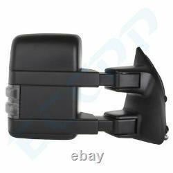 Pour 99-07 Ford Super Duty Rétroviseurs Extérieurs Électriques Et Chauffants Led Signal De Fumée De Remorquage Paire