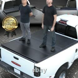 Pour 99-18 Ford Super Duty 6.5ft Short Bed Frp Hard Solid Tri-fold Tonneau Cover