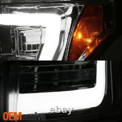 Pour Chrome 11-16 Ford F-250 F-350 F450 Super Duty Light Bar Projecteur Phares