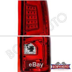 Pour La Période 2007-2013 Gmc Sierra 1500 2500 3500 Rouge Super Bright Led Tube Feux Arrière