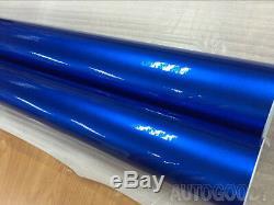 Premium Ultra Gloss Bleu Métallisé Film Vinyle Wrap Sticker Decal Air Bubble Gratuit