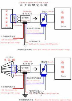 Prise De Filtre À Air Du Kit De Turbocompresseur Turbo Supercharger Électrique Pour Voiture Universelle
