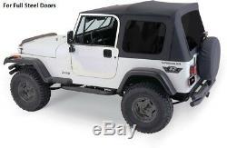Rampage Complète Tinted Soft Top Et Matériel Kit Pour 1987-1995 Jeep Wrangler Yj