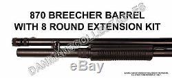 Remington 870 (breecher Tactique Super Canon) Et +3 Kit D'extension Ronde (nouveau)