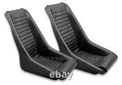 Rétro Classic Kpgc11 Vintage Racing Bucket Seats (perforated / Pvc) Paire