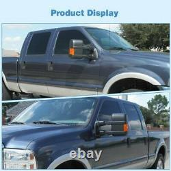 Rétroviseurs Pour 1999-2007 Ford F250 F350 F450 F550 Super Duty Power Heated