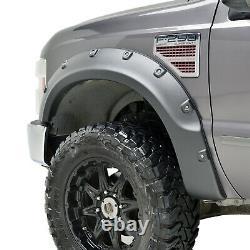 S'adapte 08-10 Ford Super Duty F250/f350 Fender Flares Textured Black Pocket
