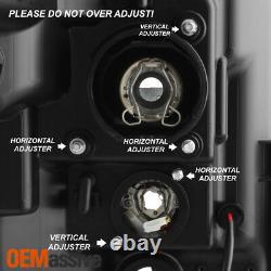 S'adapte Noir 11-16 Ford F-250 F-350 F450 Super Duty Light Bar Projecteur Phares