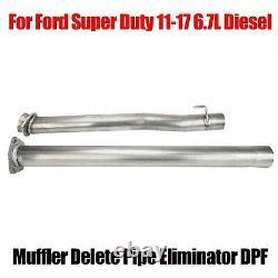 Silencieux Supprimer Le Tuyau Éliminateur Dpf Pour Ford Super Duty 2011-17 6.7l Diesel Truck