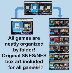 Snes 1580+ Games (tout Nes Et Snes Sortie) Modded Mini Classique Super Nintendo