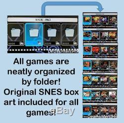 Snes 780+ Games (bibliothèque Complète Jamais) Mini Classique Super Nintendo Modded Nouveau