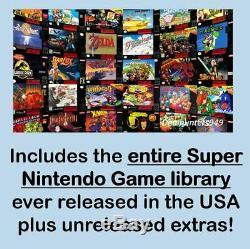 Snes Jeux 780+ (bibliothèque Jeu Entier) Modded Mini Classique Super Nintendo Console