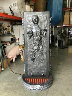 Star Wars Han Solo Carbonite Vie Taille Statue Avec Des Lumières Limited Edition Prop
