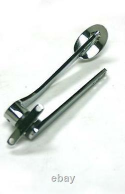Street Rod Chrome Spoon Gaz Pédale + Black Throttle Cable + Bracket & Spring Kit