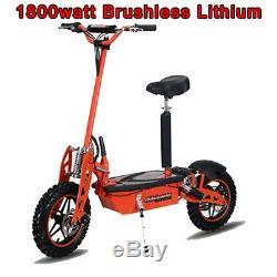 Super 1800 Watts Au Lithium Brushless Scooter Électrique 48v 20ah, Les Mondes Les Plus Rapides