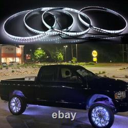 Super Bright Pure White Wheel Rings Lights Strobe Led Rims For Truck Car Switch