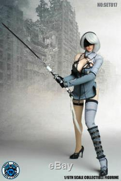 Super Canard 1/6 Nierautomata 2b Vêtements Costume Set017 F 12 Femme Action Figure