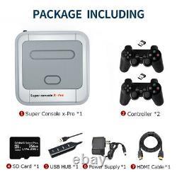 Super Console X Pro 50 000+ Rétro Console De Jeu Contrôleurs Sans Fil Jusqu'à 256g