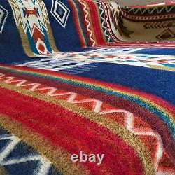 Super Deal Soft & Warm Alpa Couverture De Laine Andean Design 190x232cm Bleu