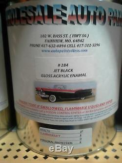Super Gloss Jet Noir Gallon Kit Unique Étape Émail Acrylique Kit De Peinture Auto Voiture