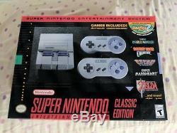 Super Nintendo Entertainment System Snes Classique! Toujours Dans La Boîte