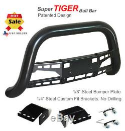 Super Tiger Bull Bar Fits 2009 2013 Ford F150 Noir Peint Garde Bumper