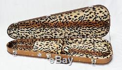Teardrop Alligator Brun Guitare Cas Avec Leopard Super Soft Peluche
