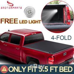Tonneau Cover 5.5ft Camion Lit Pour 2015-2020 Ford F-150 Xlt XL Super Crew Limitée